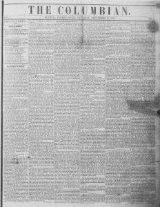 The Columbian washington first newspaper Olympia
