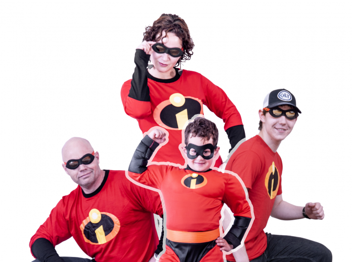 homes first Whole Family of super heros