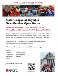 Junior League of Olympia New Members Open House @ Woodruff Park