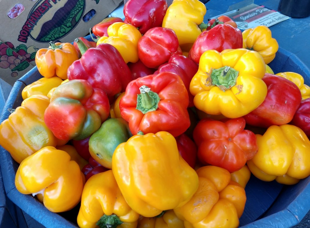 Olympia Farmers Market-Red-and-Yellow-Peppers