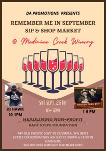 Remember Me in September Market @ Medicine Creek Winery