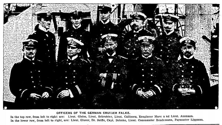 SMS-Falke in oylmpia Officers