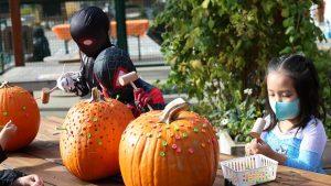 Hands on Childrens Museum Boo Bash Pounding Pumpkins